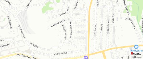 Абрикосовая улица на карте Улан-Удэ с номерами домов