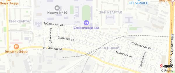 Тобольский переулок на карте Улан-Удэ с номерами домов