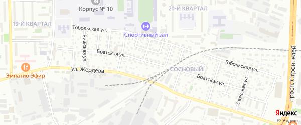 Братская улица на карте Улан-Удэ с номерами домов