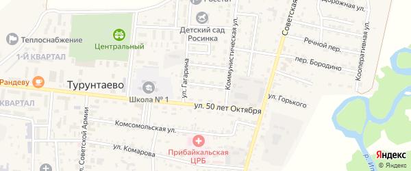 Улица Некрасова на карте села Турунтаево с номерами домов
