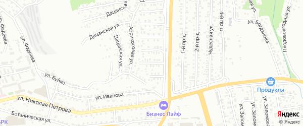 Калиновая улица на карте Улан-Удэ с номерами домов