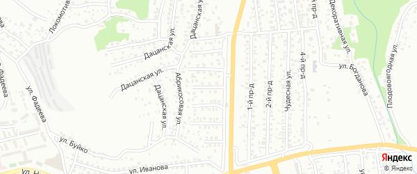 Яблоневая улица на карте Улан-Удэ с номерами домов