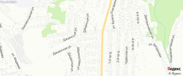 Клубничная улица на карте Улан-Удэ с номерами домов