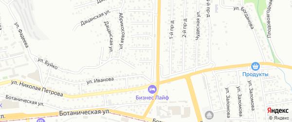 Ягодная улица на карте Улан-Удэ с номерами домов