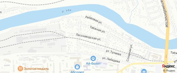 Лесозаводская улица на карте Улан-Удэ с номерами домов
