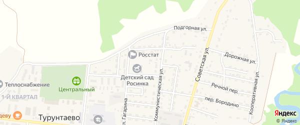 Трудовая улица на карте села Турунтаево с номерами домов