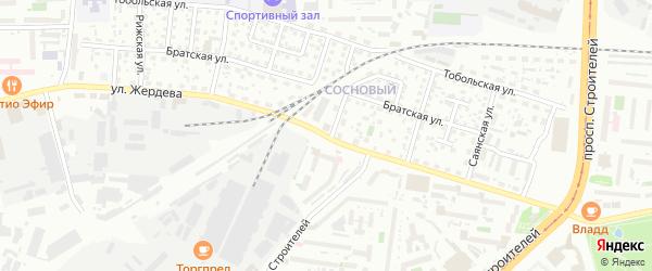 Улица Жердева на карте Улан-Удэ с номерами домов