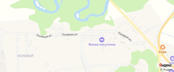 Полевая улица на карте села Турунтаево с номерами домов