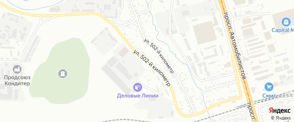Улица 502 км на карте Улан-Удэ с номерами домов