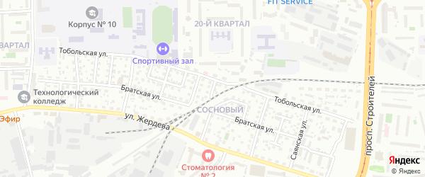 Полярный переулок на карте Улан-Удэ с номерами домов