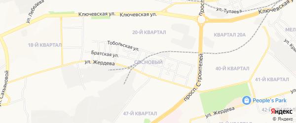 Территория ДНТ Сосновый на карте Улан-Удэ с номерами домов