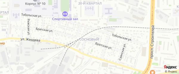 Братский тупик на карте Улан-Удэ с номерами домов