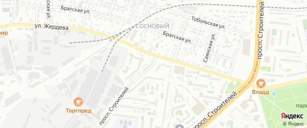 Проспект Строителей на карте Улан-Удэ с номерами домов
