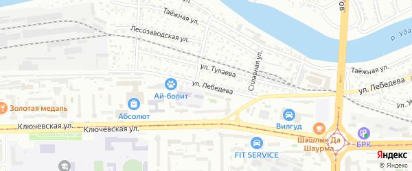 Улица Лебедева на карте Улан-Удэ с номерами домов