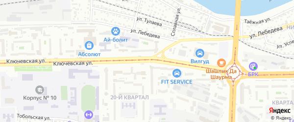 Ключевская улица на карте Улан-Удэ с номерами домов
