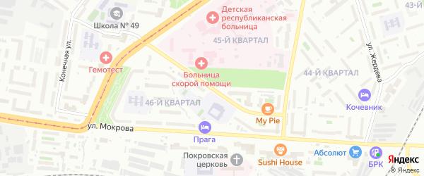 Улица Калашникова на карте Улан-Удэ с номерами домов