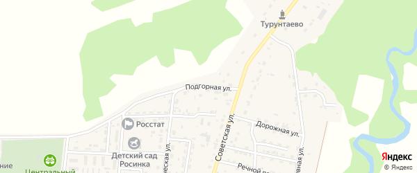 Подгорная улица на карте села Турунтаево с номерами домов