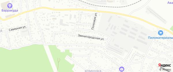 Звенигородская улица на карте Улан-Удэ с номерами домов