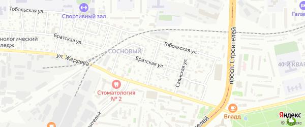 Жиримская улица на карте Улан-Удэ с номерами домов