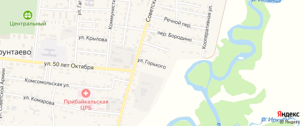 Улица Горького на карте села Турунтаево с номерами домов