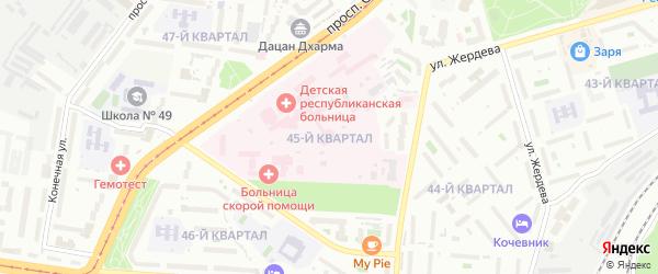 Микрорайон Тепличный кв-л 45 на карте Улан-Удэ с номерами домов