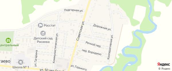 Речной 2-й переулок на карте села Турунтаево с номерами домов