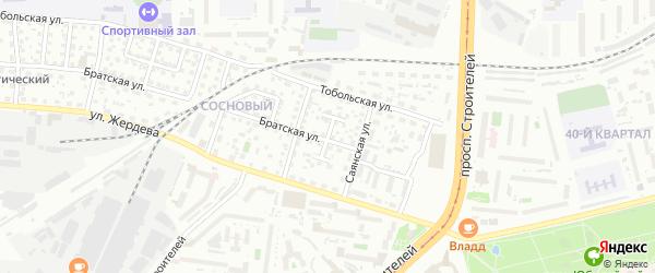 Саянский переулок на карте Улан-Удэ с номерами домов