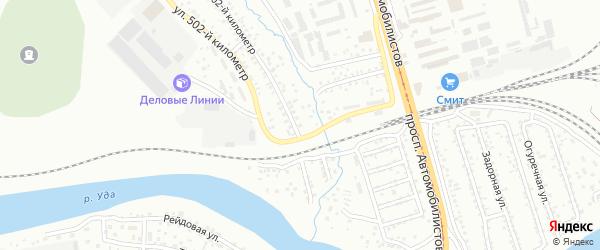 Километр автодороги Улан-Удэ-Николаевский 4 на карте Улан-Удэ с номерами домов