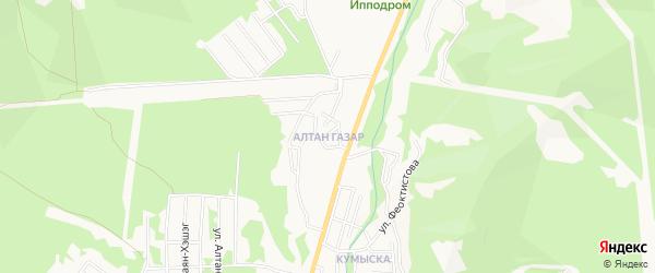 Территория ДНТ Алтан на карте Улан-Удэ с номерами домов