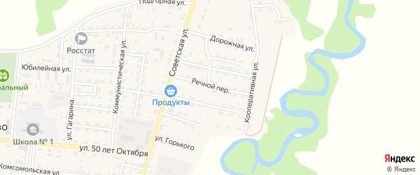 Речной переулок на карте села Турунтаево с номерами домов