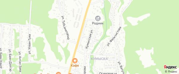 Кумысская улица на карте Улан-Удэ с номерами домов