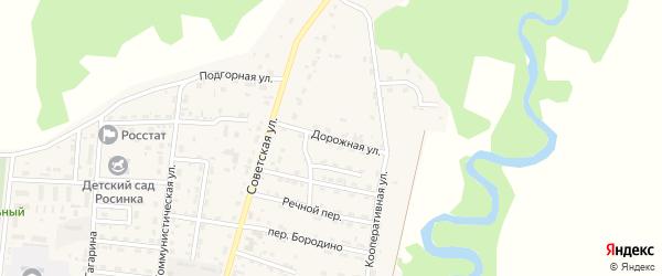 Дорожная улица на карте села Турунтаево с номерами домов