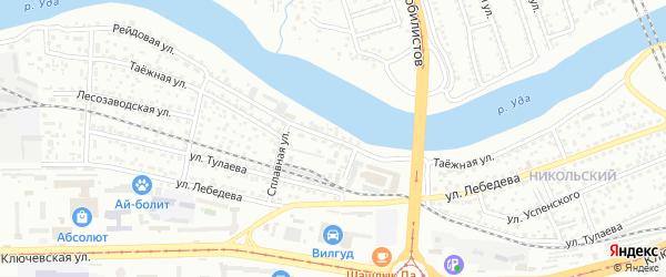 Таежная улица на карте Улан-Удэ с номерами домов