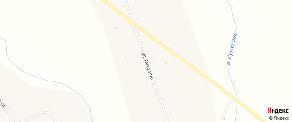 Улица Гагарина на карте улуса Кусоты с номерами домов