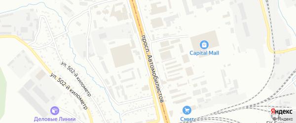 Проспект Автомобилистов на карте Улан-Удэ с номерами домов