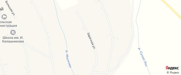 Заречная улица на карте села Шаралдая с номерами домов