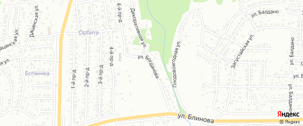 Улица Богданова на карте Улан-Удэ с номерами домов