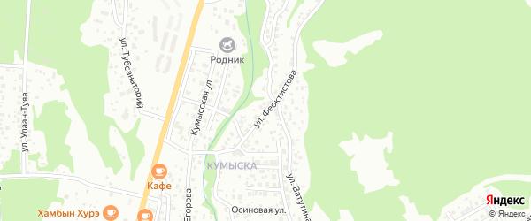 Улица Феоктистова на карте Улан-Удэ с номерами домов