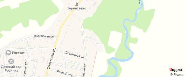 Советский переулок на карте села Турунтаево с номерами домов