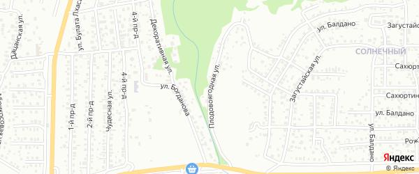 Плодовоягодная улица на карте Улан-Удэ с номерами домов