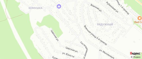 Гостеприимная улица на карте территории ДНТ Перспективы с номерами домов