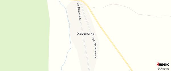 Карта улуса Харьястка в Бурятии с улицами и номерами домов