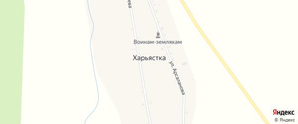 Улица Заимка на карте улуса Харьястка с номерами домов
