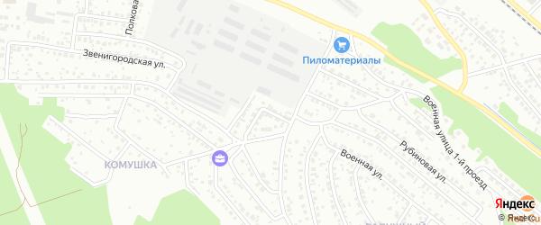 Яблоневый переулок на карте Улан-Удэ с номерами домов