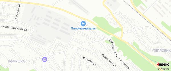 Военная 2-й проезд на карте Улан-Удэ с номерами домов
