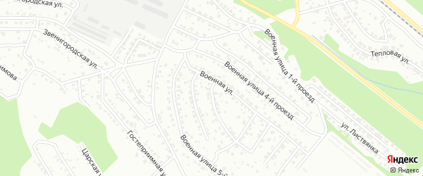 Военная 3-й проезд на карте Улан-Удэ с номерами домов