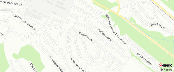 Военная 7-й проезд на карте Улан-Удэ с номерами домов