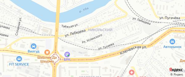 Талецкая улица на карте Улан-Удэ с номерами домов