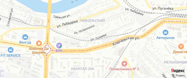 Улица Тулаева на карте Улан-Удэ с номерами домов