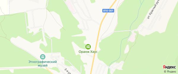Карта микрорайона Верхней Березовки города Улан-Удэ в Бурятии с улицами и номерами домов
